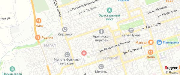 Улица 2 Магал на карте Дербента с номерами домов