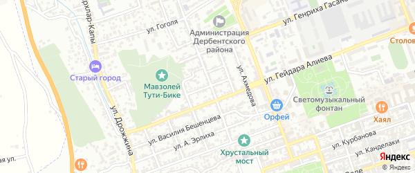 Улица Патриса Лумумбы на карте Дербента с номерами домов