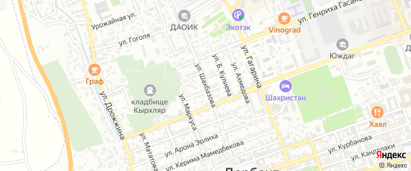 Улица Шахбазова на карте Дербента с номерами домов