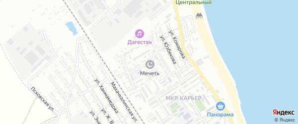 Карьерная улица на карте Дербента с номерами домов