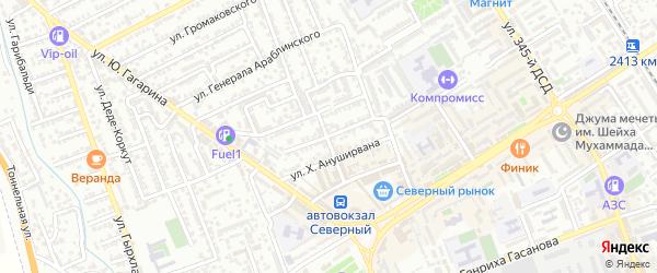 Градостроительная улица на карте Дербента с номерами домов