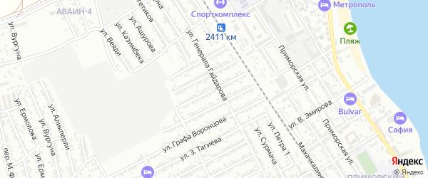Улица В.Сенченко на карте Дербента с номерами домов