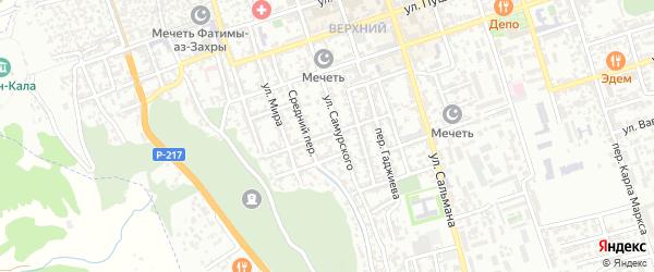Улица Дьякова на карте Дербента с номерами домов