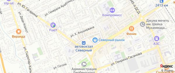 Автовокзальная улица на карте Дербента с номерами домов