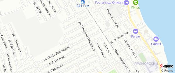 Улица И.Гайдарова на карте Дербента с номерами домов