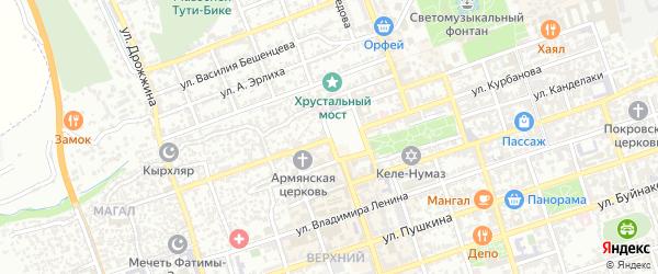 Площадь Свободы на карте Дербента с номерами домов