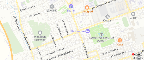 Улица Ахмедова на карте Дербента с номерами домов