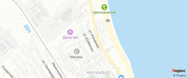 Улица Комарова на карте Дербента с номерами домов