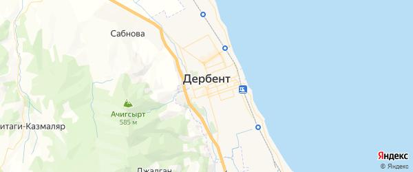 Карта Дербента с районами, улицами и номерами домов