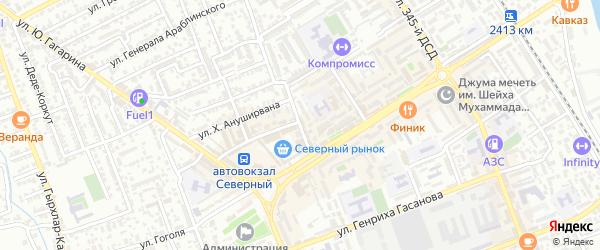 Улица Оскара на карте Дербента с номерами домов