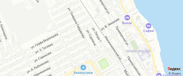 Улица М.Сурмача на карте Дербента с номерами домов