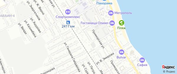 Улица С.Габиева на карте Дербента с номерами домов