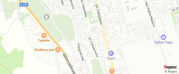Улица Самурского на карте Дербента с номерами домов
