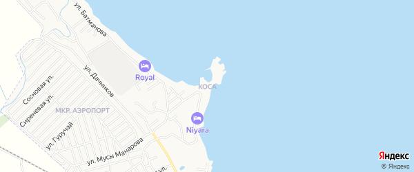 Территория Коса на карте Дербента с номерами домов
