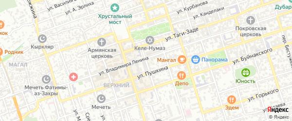 Переулок Дахадаева на карте Дербента с номерами домов