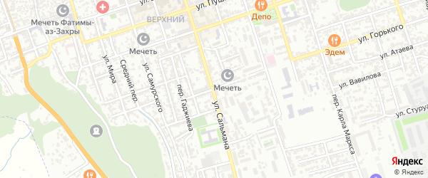 Ковровый переулок на карте Дербента с номерами домов