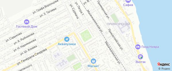 Улица Н.Самурского на карте Дербента с номерами домов