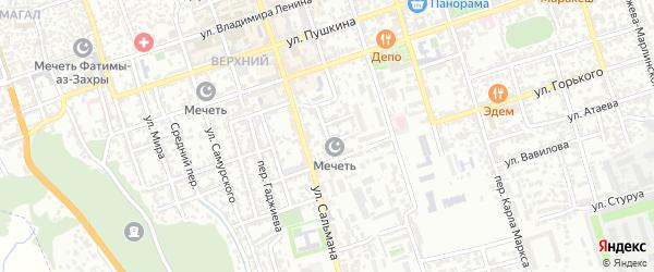 Фабричная улица на карте Дербента с номерами домов