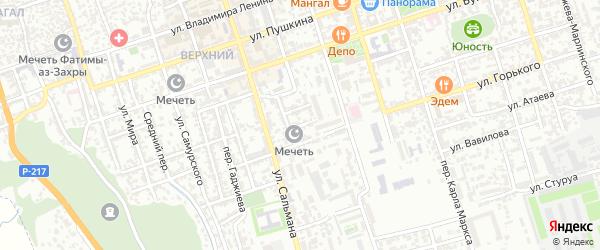 Нагорная 3-я улица на карте Дербента с номерами домов
