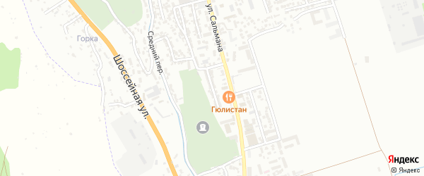 Тупик Сальмана на карте Дербента с номерами домов
