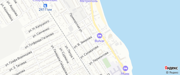 Улица Эмирова на карте Дербента с номерами домов