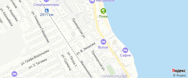 Улица Рамазанова на карте Дербента с номерами домов