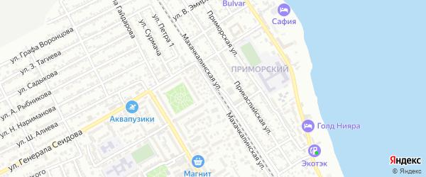 Махачкалинская улица на карте Дербента с номерами домов