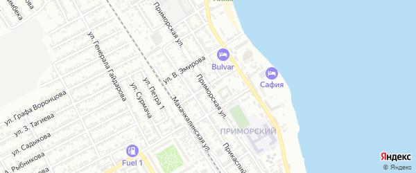 Улица Салаватова на карте Дербента с номерами домов