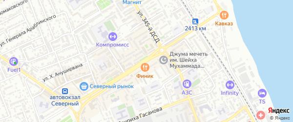 Проспект Агасиева на карте Дербента с номерами домов