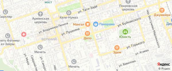 Улица У.Буйнакского на карте Дербента с номерами домов