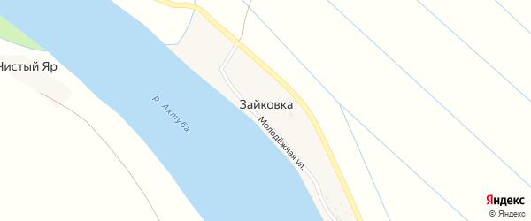 Молодежная улица на карте поселка Зайковки с номерами домов