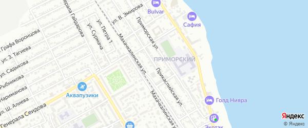 Прикаспийская улица на карте Дербента с номерами домов
