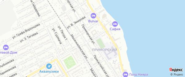 Улица М.Лермонтова на карте Дербента с номерами домов
