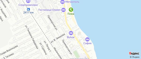 Улица Х.Тагиева на карте Дербента с номерами домов