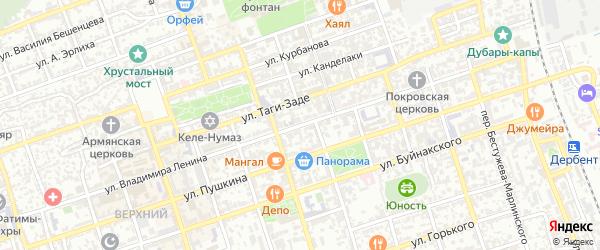 Улица В.Ленина на карте Дербента с номерами домов