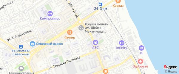 Улица Я.Свердлова на карте Дербента с номерами домов