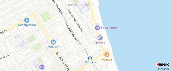 Улица Г.Цадасы на карте Дербента с номерами домов