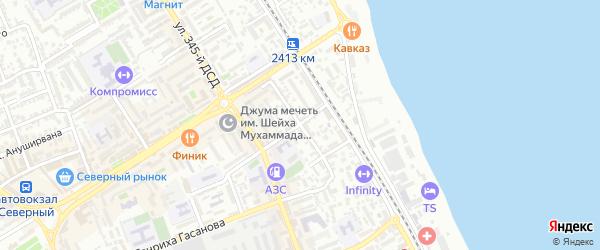 Улица Коркмасова на карте Дербента с номерами домов