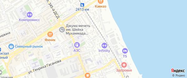Улица Котрова на карте Дербента с номерами домов