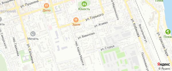 Улица Вавилова на карте Дербента с номерами домов