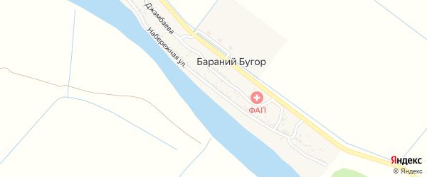 Набережная улица на карте села Бараньего Бугра с номерами домов