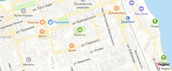Красноармейский 2-й переулок на карте Дербента с номерами домов