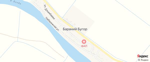 Улица Джабаева на карте села Бараньего Бугра с номерами домов
