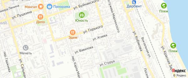 Улица Д.Атаева на карте Дербента с номерами домов