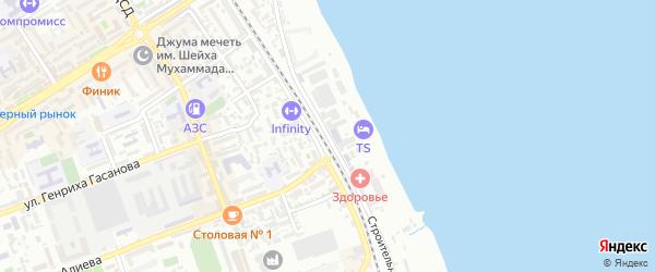 Строительная улица на карте Дербента с номерами домов