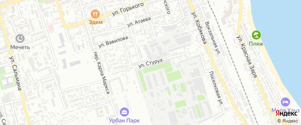 Улица Стуруа на карте Дербента с номерами домов