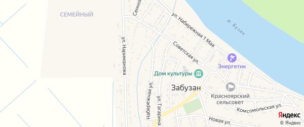 Набережная улица на карте села Забузана с номерами домов