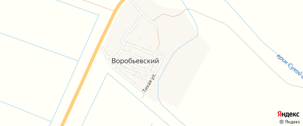 Полевая улица на карте Воробьевского поселка с номерами домов