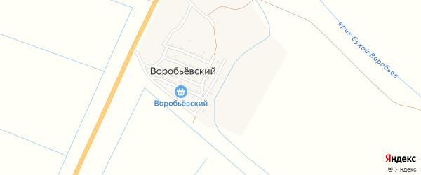 Тихая улица на карте Воробьевского поселка с номерами домов