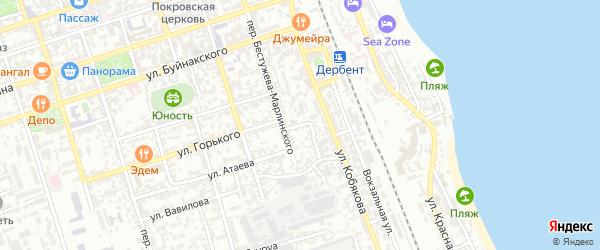 Сквозной переулок на карте Дербента с номерами домов